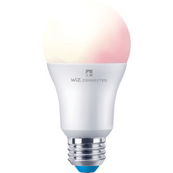 4lite WiZ 4lite WiZ LED A60 Smart Bulb RGBWW Wi-Fi / Bluetooth 8W ES 806lm - 57052 - from Toolstation