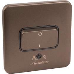 Schneider Electric Schneider Electric Lisse Mocha Bronze Screwless 10A Isolator Switch 3 Pole - 57184 - from Toolstation