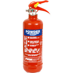 Fire Chief Firechief Dry Powder Fire Extinguisher 600g Rating 5A 21B C - 57211 - from Toolstation