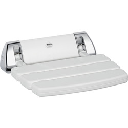 Mira Mira Wall Mounted Shower Seat White / Chrome - 57222 - from Toolstation
