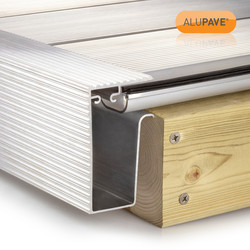 Alupave Fireproof Flat Roof & Decking Side Gutter