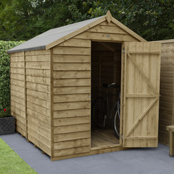 Forest Forest Garden Overlap Pressure Treated Shed - No Window 8' x 6' - 57259 - from Toolstation