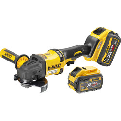 DeWalt DeWalt 54V XR FlexVolt High Power 125mm Angle Grinder 2 x 9.0Ah - 57399 - from Toolstation