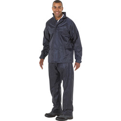 Endurance Waterproof 2 Piece Suit Navy Large - 57518 - from Toolstation