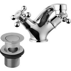 Ebb and Flo Ebb + Flo Traditional Taps Basin Mixer - 57544 - from Toolstation