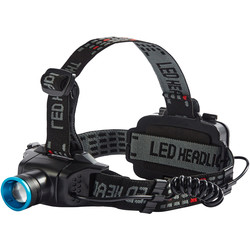 Ring Rechargeable Zoom 240 LED Head Torch