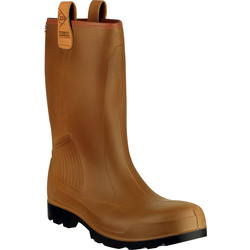 Dunlop Dunlop Purofort Rig Air C462743FL Safety Wellington Brown Size 11 - 57576 - from Toolstation