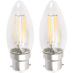 LED Filament Candle Lamp 4W BC (B22d) 450lm