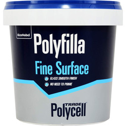 Polycell Trade Polycell Trade Polyfilla Ready Mixed Fine Surface Filler 500g - 57665 - from Toolstation
