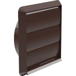 Wall Outlet Gravity Flap 125mm Brown
