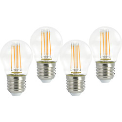 Sylvania Sylvania LED RT Filament Mini Globe Lamp 4.5W ES (E27) 470lm - 57797 - from Toolstation