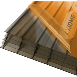 Axiome Axiome 25mm Polycarbonate Bronze Fivewall Sheet 690 x 2500mm - 57803 - from Toolstation