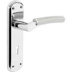Hafele Tantalus Door Handles Lock Twin Tone - 57843 - from Toolstation