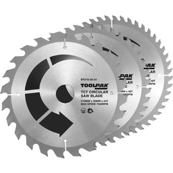 Toolpak Toolpak TCT Circular Saw Blades 210 x 30mm - 57896 - from Toolstation