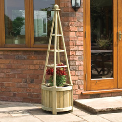 Rowlinson Rowlinson Marberry Obelisk Planter 171cm (h) x 50cm (w) x 50cm (d) - 57911 - from Toolstation
