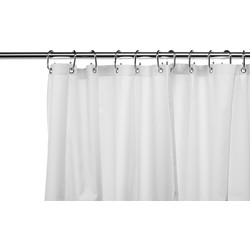 Croydex Croydex Plain Textile Shower Curtain White - 57918 - from Toolstation