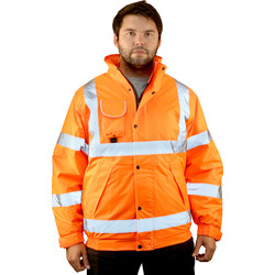 High Vis Bomber Jacket Orange Medium