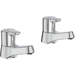 Ideal Standard Ideal Standard Desna Pillar Taps Basin - 57960 - from Toolstation