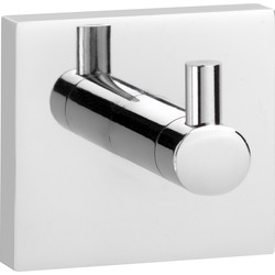 Croydex Chester Flexi-Fix Robe Hook Polished Chrome