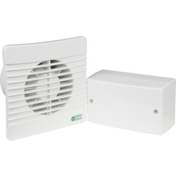 Airvent 100mm SELV 12V Energy Saving Extractor Fan Humidistat - 58105 - from Toolstation