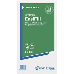 Gyproc Gyproc Easifill Filler 5 x 1kg  - 58172 - from Toolstation