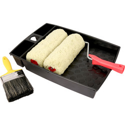 Pioneer Brush Co Pioneer Masonry Paintbrush & Roller Set  - 58195 - from Toolstation