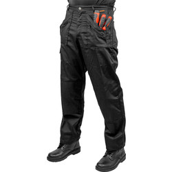 "Portwest Action Trousers 36"" R Black - 58291 - from Toolstation"