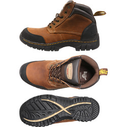 Dr Martens Dr Martens Riverton Safety Boots Brown Size 10 - 58310 - from Toolstation
