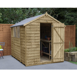 Forest Forest Garden Overlap Pressure Treated Apex Shed 8' x 6' - 58322 - from Toolstation