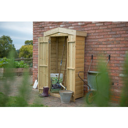 Forest Forest Garden Pressure Treated Tall Garden Store Apex Shiplap 183 x 110 x 51cm - 58384 - from Toolstation