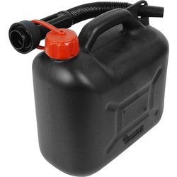 Plastic Fuel Can Black 5L