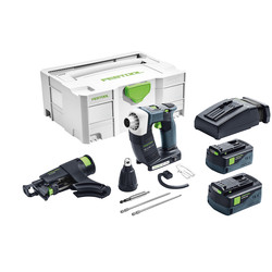 Festool Festool DWC 18-4500 18V Li-Ion Cordless Drywall Screwgun 2 x 5.2Ah - 58445 - from Toolstation