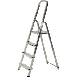 Youngman Youngman High Handrail Step Ladder 4 Tread SWH 2.53m - 58485 - from Toolstation