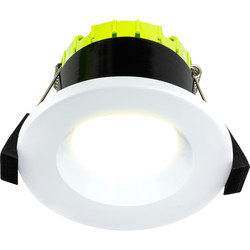 Luceco FType Compact Regressed Integrated Dimmable 6W Fire Rated IP65 Downlight