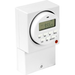 7 Day Surface Electronic Timer 16A (8A)