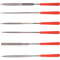 Minotaur Minotaur Diamond Needle File Set 6 Piece - 58516 - from Toolstation