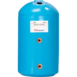 RM Cylinders Indirect Hot Water Cylinder 1050 x 450 140L - 58595 - from Toolstation