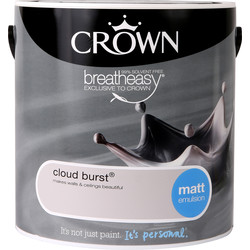 Crown Crown Breatheasy Matt Emulsion 2.5L Cloud Burst - 58601 - from Toolstation