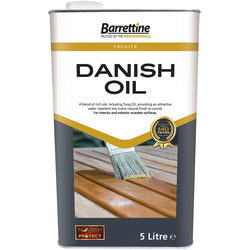 Barrettine Danish Oil 5L - 58631 - from Toolstation