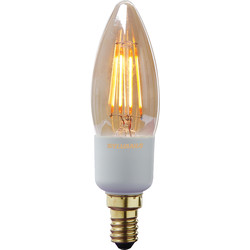 Sylvania Sylvania LED Filament Effect Golden Dimmable Candle Lamp 4.5W SES 260lm A++ - 58645 - from Toolstation