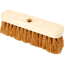 "Hill Brush Company Soft Coco Broom 10"" - 58650 - from Toolstation"