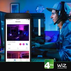 4lite WiZ LED ST64 Smart Filament Wi-Fi Bulb