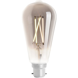 4lite WiZ 4lite WiZ LED ST64 Smart Filament Wi-Fi Bulb 6.5W BC 400lm Smoky - 58737 - from Toolstation