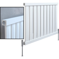 Kudox Kudox Elmas Satin White Designer Radiator 600 x 810mm 1911Btu - 58749 - from Toolstation