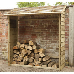 Forest Forest Garden Wall Log Store 195cm (h) x 183cm (w) x 84cm (d) - 58766 - from Toolstation