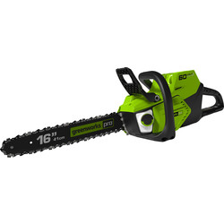 Greenworks 60V Cordless Chainsaw with Battery & Charger