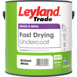 Leyland Trade Leyland Trade Fast Drying Water Based Undercoat Paint Brilliant White 2.5L - 58964 - from Toolstation