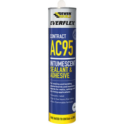 Everbuild AC95 Intumescent Fire & Acoustic Sealant & Adhesive 900ml - 59088 - from Toolstation