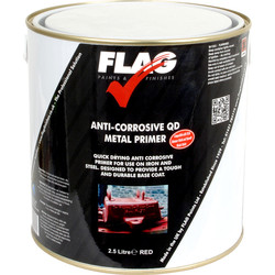Anti Corrosive Quick Drying Metal Primer Paint Red 2.5L