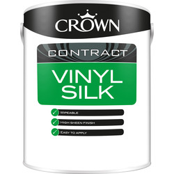 Crown Contract Crown Contract Vinyl Silk Emulsion 5L Magnolia - 59171 - from Toolstation